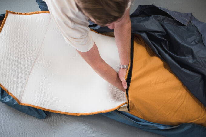Auping mat in Shelterbag